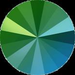 Crystal Scarabaeus Green F 14mm