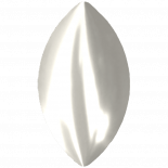 Crystal White Pearl F 6x3.5mm