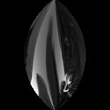 Jet Hematite 8x4.5mm