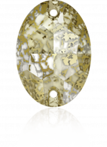 Crystal Gold Patina F 16x11mm