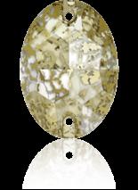 Crystal Gold Patina F 24x17mm