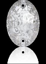 Crystal Silver Patina F 16x11mm