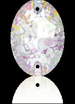 Crystal White Patina F 16x11mm