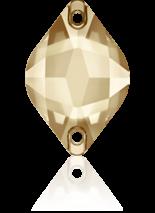 Crystal Golden Shadow F 18x12mm