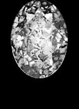 Crystal Black Patina F 8x6mm