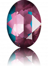 Crystal Burgundy DeLite 14x10mm