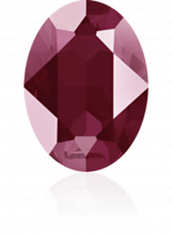 Crystal Dark Red 14x10mm