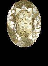 Crystal Gold Patina F 8x6mm