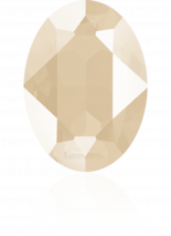 Crystal Ivory Cream 18x13mm