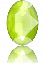 Crystal Lime 14x10mm