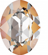 Crystal Peach DeLite 14x10mm