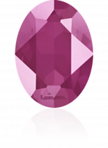 Crystal Peony Pink 14x10mm