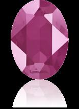 Crystal Peony Pink 18x13mm