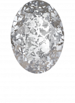 Crystal Silver Patina F 8x6mm