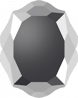 Crystal Light Chrome F 14x11mm