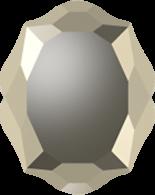 Crystal Metallic Gold F 14x11mm