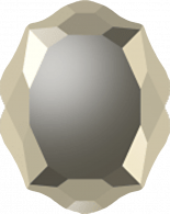 Crystal Metallic Gold F 18x14mm