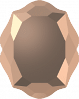 Crystal Rose Gold F 18x14mm