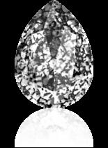 Crystal Black Patina F 14x10mm