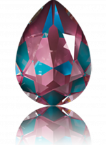Crystal Burgundy Delite 18x13mm