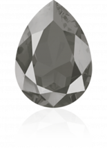 Crystal Dark Grey 18x13mm
