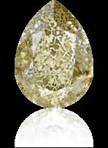 Crystal Gold Patina F 14x10mm