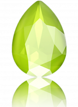 Crystal Lime 18x13mm