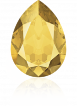 Crystal Metallic Sunshine F 18x13mm