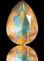 Crystal Ochre Delite 18x13mm