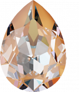 Crystal Peach Delite 18x13mm