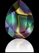 Crystal Rainbow Dark F 14x10mm