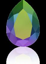 Crystal Scarabaeus Green F 14x10mm