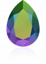 Crystal Scarabaeus Green F 18x13mm
