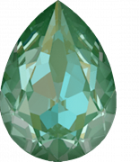 Crystal Silky Sage Delite 18x13mm