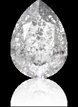 Crystal Silver Patina F 14x10mm