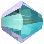 Aquamarine Shimmer 2X 4mm
