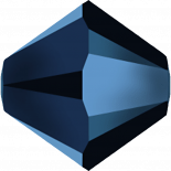 Crystal Metallic Blue 2X 5mm