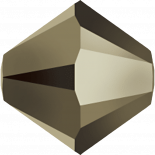 Crystal Metallic Light Gold 2X 6mm
