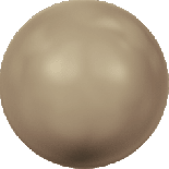 Crystal Bronze Pearl 6mm