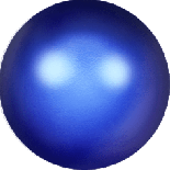 Crystal Iridescent Dark Blue Pearl 6mm