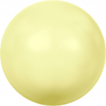 Crystal Pastel Yellow Pearl 6mm