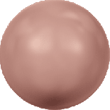 Crystal Rose Peach Pearl 4mm