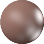 Crystal Velvet Brown Pearl 6mm