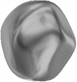 Crystal Dark Grey Pearl 8mm