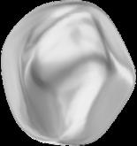 Crystal Light Grey Pearl 12mm